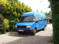 minibus in the car park